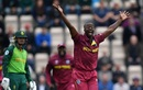 Kemar Roach appeals hard for a wicket, South Africa vs West Indies, World Cup 2019, Southampton, June 10, 2019
