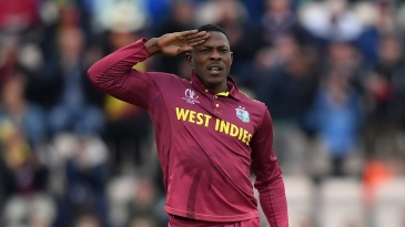 At ease: Sheldon Cottrell provided the early breakthrough for West Indies