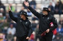 The umpires call for covers following rain in Southampton, South Africa vs West Indies, World Cup 2019, Southampton, June 10, 2019