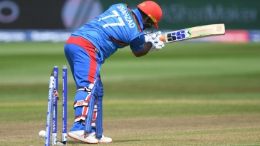 Mohammad Shahzad was out for a three-ball duck against Australia