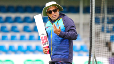 Sri Lanka coach Chandika Hathurusingha keeps a watchful eye at training