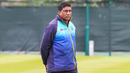 Ashantha de Mel keeps a keen eye on proceedings at Sri Lanka training, Edinburgh, May 20, 2019