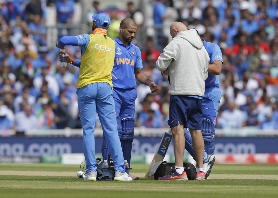 Dhawan ruled out of the Cricket World Cup
