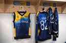 Jerseys of Kusal Perera and Suranga Lakmal in the dressing room, Bangladesh v Sri Lanka, World Cup 2019, Bristol, June 11, 2019