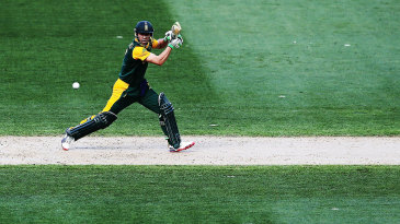 AB de Villiers plays a shot on the off side