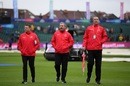 The umpires Richard Kettleborough, Richard Illingworth and Michael Gough inspect the Bristol pitch, Bangladesh v Sri Lanka, World Cup 2019, Bristol, June 11, 2019