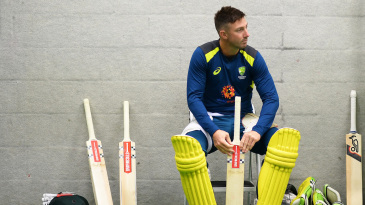 Shaun Marsh looks in a pensive mood during a nets session