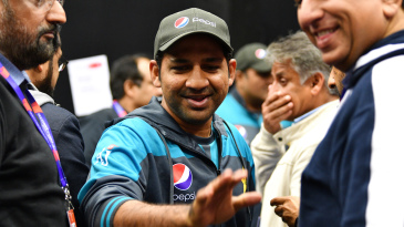 Sarfaraz Ahmed leaves after a press conference