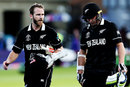 Kane Williamson and Tom Latham walk back after winning the match, Afghanistan v New Zealand, World Cup 2019, Taunton, June 8, 2019