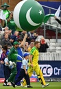 Sarfaraz Ahmed and Aaron Finch lead their teams onto the field, Australia v Pakistan, World Cup 2019, Taunton, June 12, 2019