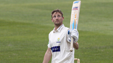 Billy Root looks to the skies on reaching his hundred