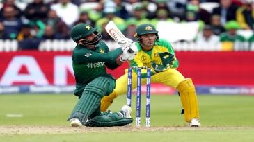 Mohammad Hafeez sweeps one away