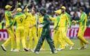 Mohammad Hafeez walks back, Australia v Pakistan, World Cup 2019, Taunton, June 12, 2019