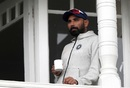 Mohammed Shami watches on, India v New Zealand, World Cup 2019, Trent Bridge, June 13, 2019