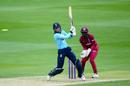 Amy Jones on her way to a half-century, England Women v West Indies Women, 3rd ODI, Chelmsford, June 13, 2019