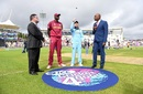 Eoin Morgan and Jason Holder at the toss, England v West Indies, World Cup 2019, Southampton, June 14, 2019