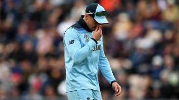Jason Roy left the field with a left hamstring injury