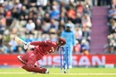 Shimron Hetmyer avoids a bouncer, England v West Indies, World Cup 2019,  Southampton, June 14, 2019