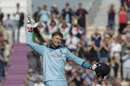 Joe Root celebrates after scoring a century, England v West Indies, World Cup 2019,  Southampton, June 14, 2019
