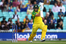 Aaron Finch gets into a good position to drive, Australia v Sri Lanka, World Cup 2019, The Oval, June 15, 2019
