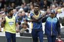 Sri Lanka's Isuru Udana walks off after getting injured while fielding, Australia v Sri Lanka, World Cup 2019, The Oval, June 15, 2019