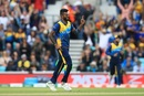 Isuru Udana celebrates a wicket, Australia v Sri Lanka, World Cup 2019, The Oval, June 15, 2019