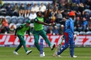 Kagiso Rabada got South Africa's first wicket of the day, Afghanistan v South Africa, World Cup 2019, Cardiff, June 15, 2019