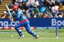 Noor Ali Zadran plays a shot, Afghanistan v South Africa, World Cup 2019, Cardiff, June 15, 2019
