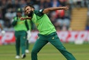 Imran Tahir celebrates taking the wicket of Asghar Afghan, Afghanistan v South Africa, World Cup 2019, Cardiff, June 15, 2019