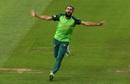 Imran Tahir celebrates after bowling Noor Ali Zadran, Afghanistan v South Africa, World Cup 2019, Cardiff, June 15, 2019