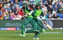 Quinton de Kock and South Africa's Hashim Amla run between the wickets, Afghanistan v South Africa, World Cup 2019, Cardiff, June 15, 2019
