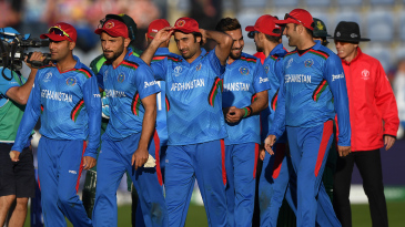 Afghanistan leave the field after another heavy defeat
