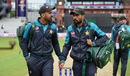 Wahab Riaz and Mohammad Amir take a walk before the match, India v Pakistan, World Cup 2019, Old Trafford, June 16, 2019