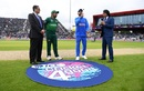 India captain Virat Kohli tosses the coin alongside Pakistan captain Sarfaraz Ahmed, India v Pakistan, World Cup 2019, Manchester, June 16, 2019
