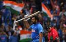 Rohit Sharma celebrates his hundred, India v Pakistan, World Cup 2019, Manchester, June 16, 2019