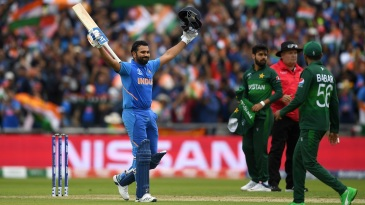 Rohit Sharma's 85-ball ton gave India a superb start