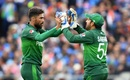 Mohammad Amir celebrates after dismissing MS Dhoni, India v Pakistan, World Cup 2019, Old Trafford, June 16, 2019