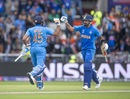 Rohit Sharma and Virat Kohli put together 98 runs for the second wicket, India v Pakistan, World Cup 2019, Manchester, June 16, 2019
