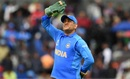 MS Dhoni looks up as light drizzle continues, India v Pakistan, World Cup 2019, Manchester, June 16, 2019