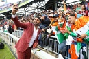 Harbhajan Singh takes a selfie with Indian fans, India v Pakistan, World Cup 2019, Manchester, June 16, 2019