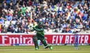 Fakhar Zaman reaches out for a square drive, India v Pakistan, World Cup 2019, Manchester, June 16, 2019