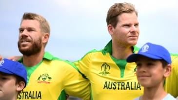 David Warner and Steven Smith, back in Australian colours