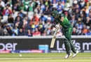 Babar Azam brings out the drive, India v Pakistan, World Cup 2019, Manchester, June 16, 2019