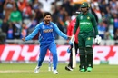 Kuldeep Yadav celebrates, India v Pakistan, World Cup 2019, Manchester, June 16, 2019