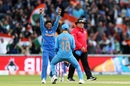 Kuldeep Yadav removed Babar Azam and Fakhar Zaman in a short span to put India on top, India v Pakistan, World Cup 2019, Manchester, June 16, 2019