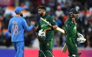 Virat Kohli shakes hands with Imad Wasim after the win, India v Pakistan, World Cup 2019, Manchester, June 16, 2019