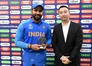 Rohit Sharma receives the Man of the Match award, India v Pakistan, World Cup 2019, Manchester, June 16, 2019