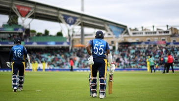 Dimuth Karunaratne and Kusal Perera are only the second captain-wicketkeeper opening pair in a World Cup match