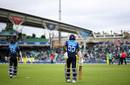 Dimuth Karunaratne and Kusal Perera walk out to bat, Australia v Sri Lanka, World Cup 2019, The Oval, June 15, 2019