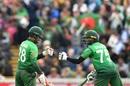 Shakib Al Hasan (R) crossed 6000 runs in ODIs and put up a half-century partnership with Tamim Iqbal, Bangladesh v West Indies, World Cup 2019, Taunton, June 17, 2019
